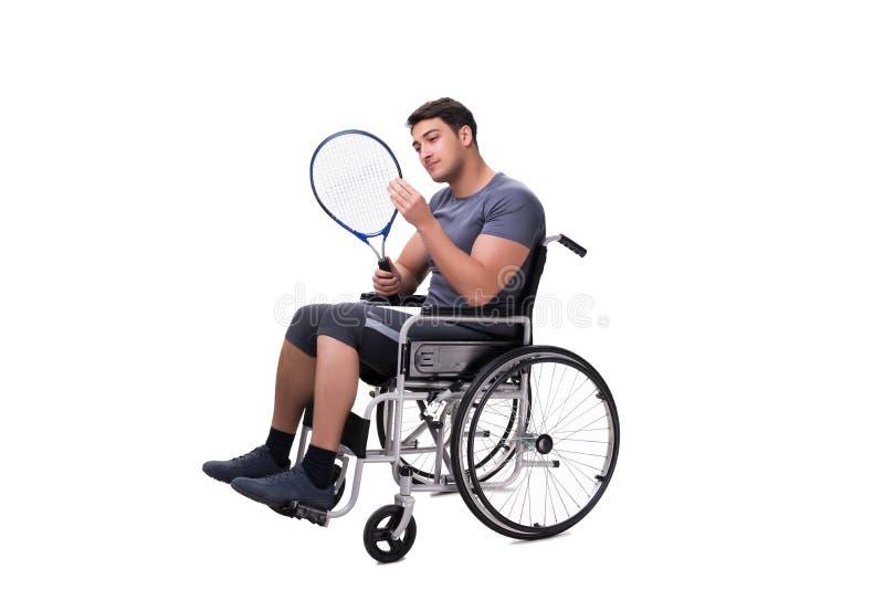 Download Il Tennis Che Recupera Dalla Lesione Sulla Sedia A Rotelle Immagine Stock - Immagine di positivo, malattia: 117976175