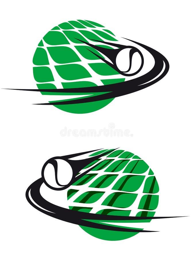 Il tennis mette in mostra gli elementi royalty illustrazione gratis