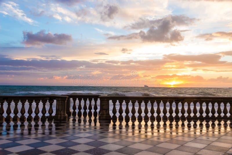 Il Terrazza Mascagni ? un belvedere in Livorno, Italia immagine stock libera da diritti