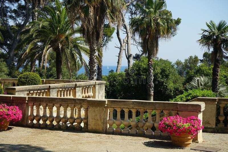 Il terrazzo, villa Eilenroc fotografie stock