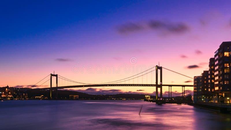 Il terre de Miain de montage en pont à Hissingen, Gothenbur nnecting image stock