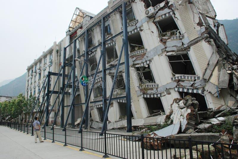 Il terremoto distrugg fotografia stock libera da diritti