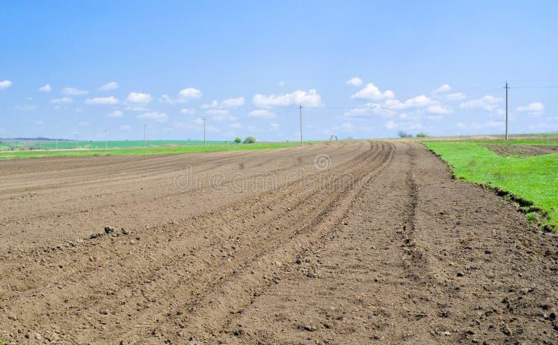 Il terreno ucraino ha preparato per piantare fotografie stock