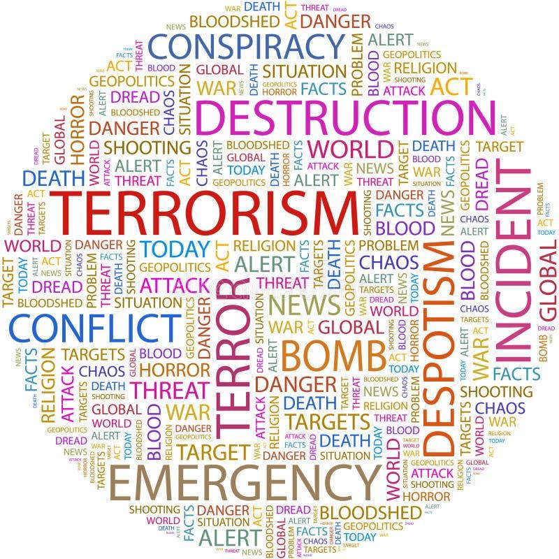 Il TERRORISMO. illustrazione vettoriale