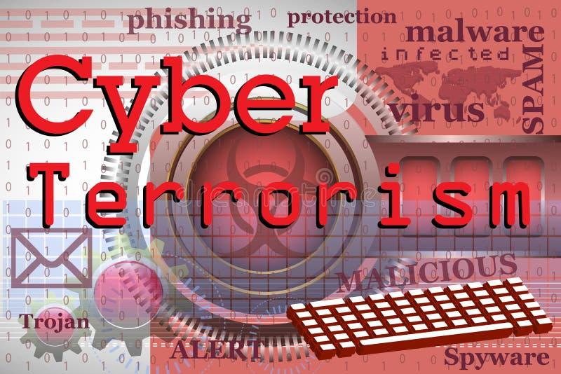Il terrorismo cyber royalty illustrazione gratis