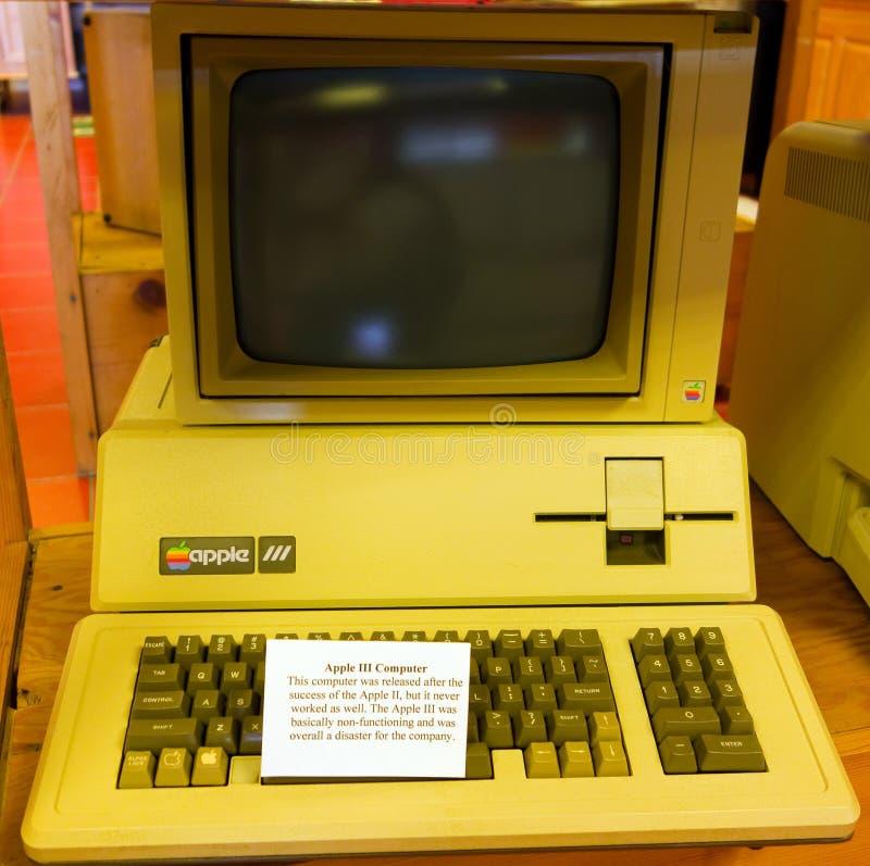 Il terzo calcolatore Apple fotografie stock libere da diritti