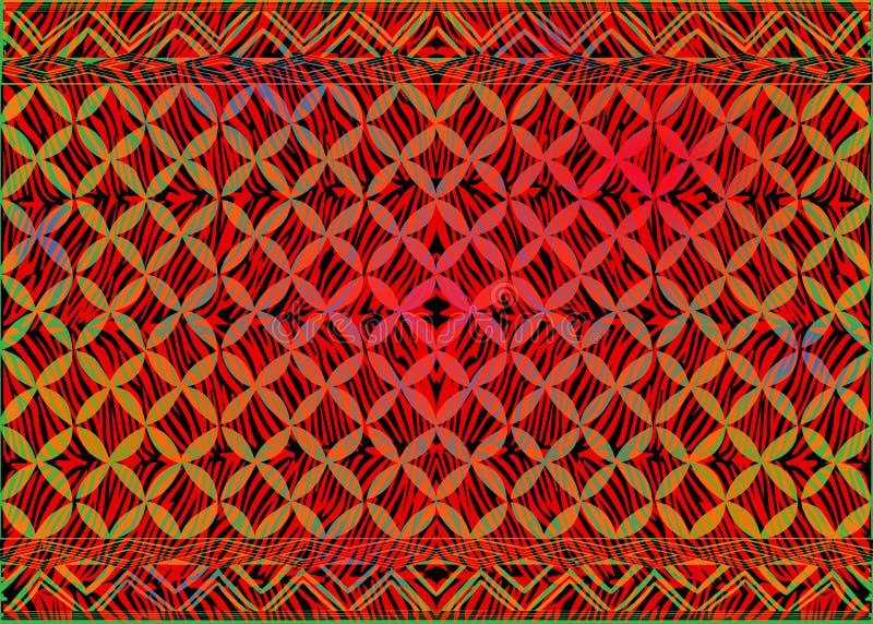 Il tessuto a strisce africano della stampa, ornamento fatto a mano etnico per il vostro vettore lineare degli elementi di motivi  royalty illustrazione gratis