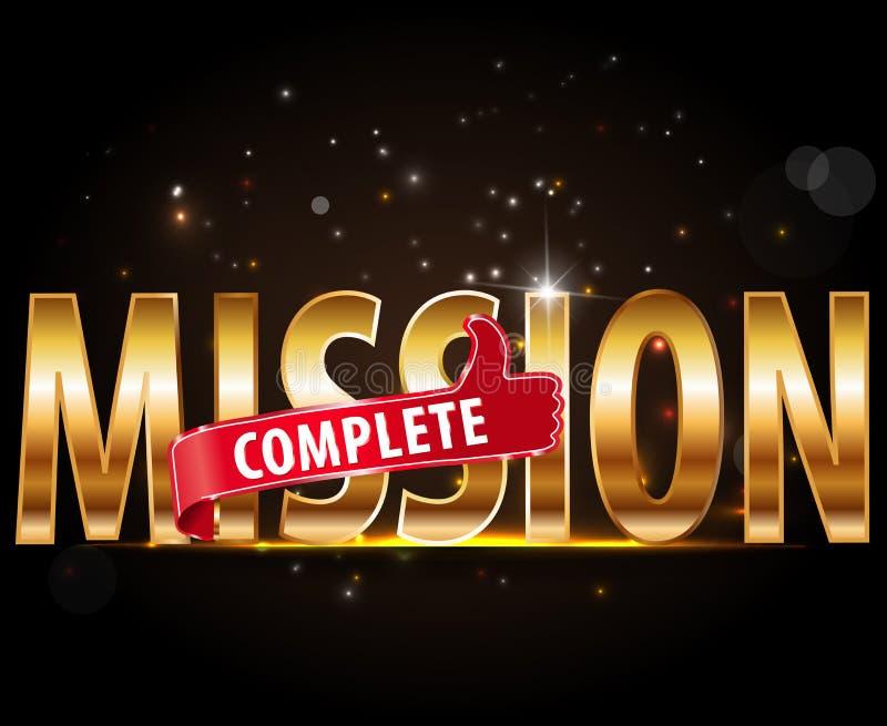 Il testo completo di missione con i pollici su progetta royalty illustrazione gratis