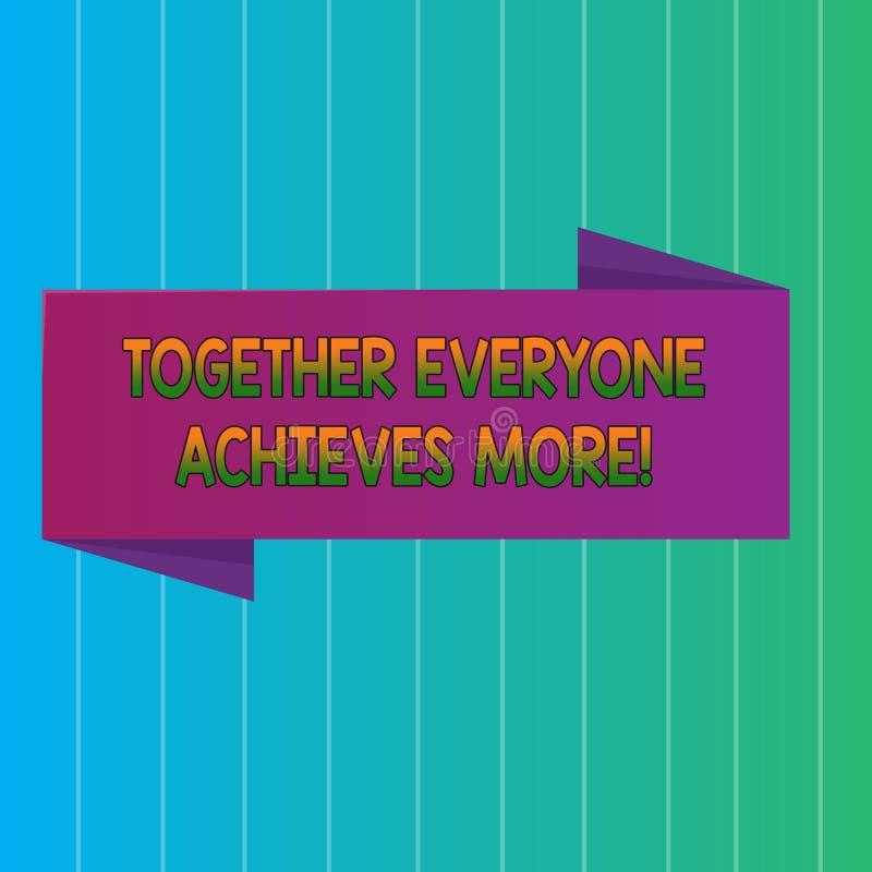 Il testo di scrittura di parola ognuno raggiunge insieme più Il concetto di affari per i membri crea il forte impegno di senso di illustrazione di stock