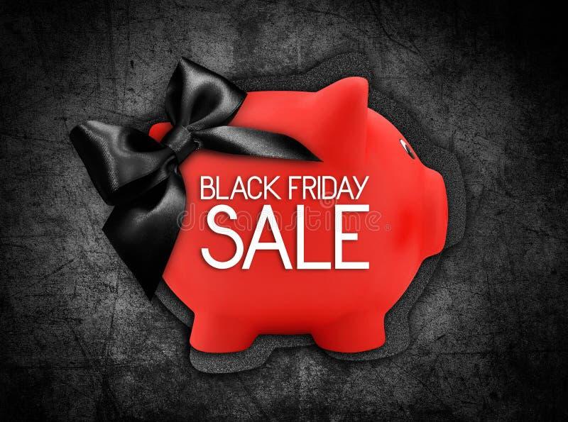 Il testo di vendita di Black Friday scrive sull'etichetta della carta di regalo sotto forma di fotografia stock