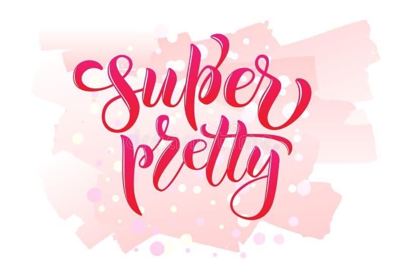 Il testo grazioso eccellente di calligrafia per le donne della maglietta progetta, negozio femminile di Internet Iscrizione della royalty illustrazione gratis