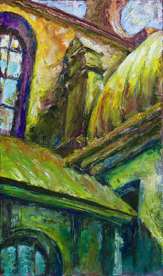 Il tetto della cattedrale royalty illustrazione gratis