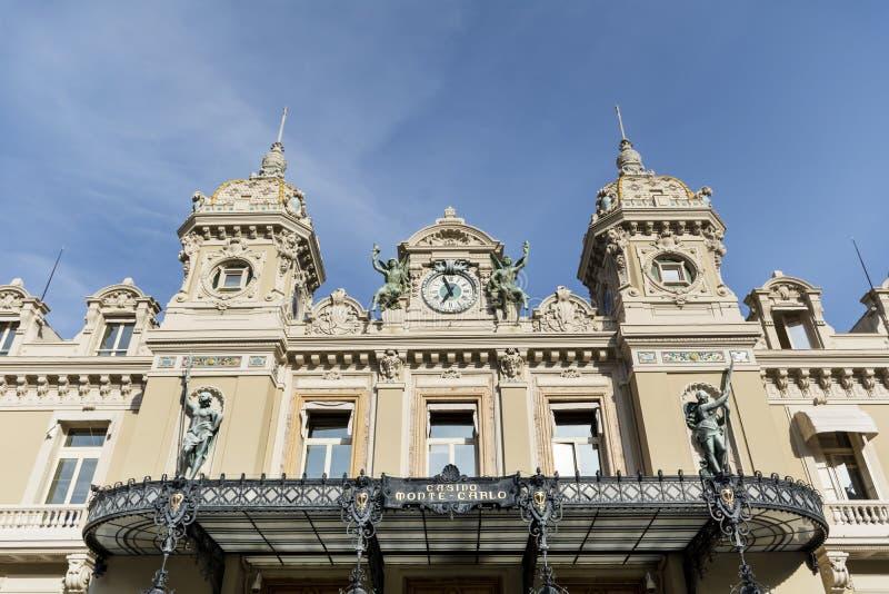 Il tetto di Monte Carlo Casino, Monaco, Francia immagine stock libera da diritti