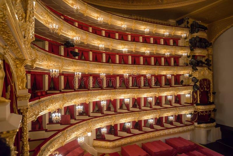 Il théâtre de Bolshoi un théâtre historique de ballet et d'opéra à Moscou, Russie photo stock