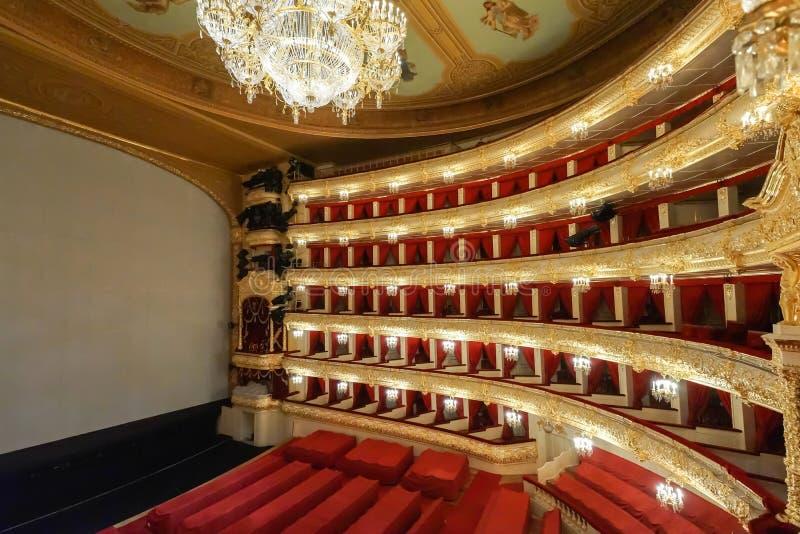Il théâtre de Bolshoi un théâtre historique de ballet et d'opéra à Moscou, Russie image stock