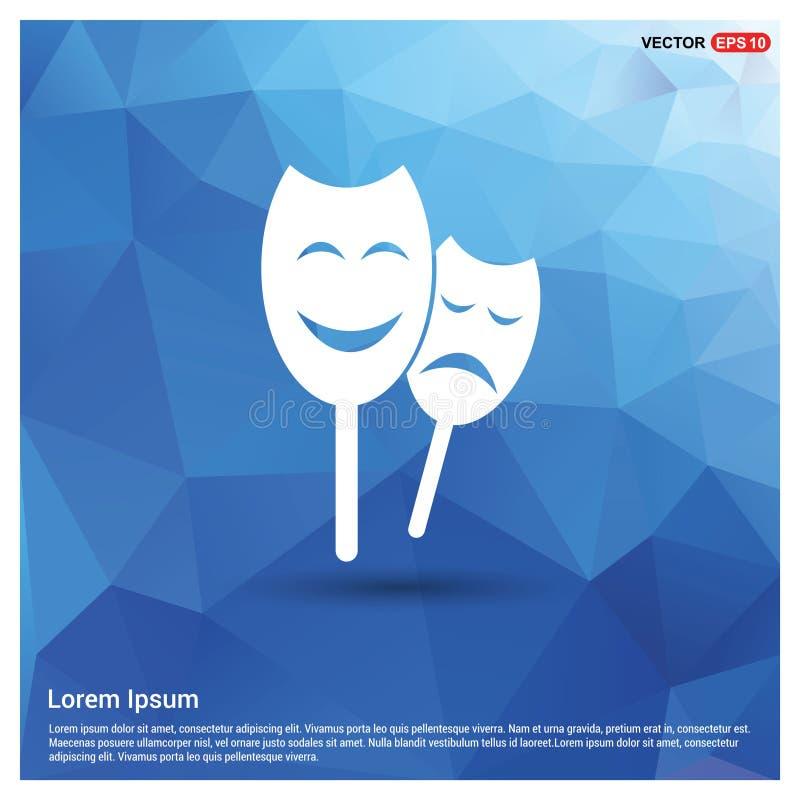 Il Theatrical maschera l'icona royalty illustrazione gratis