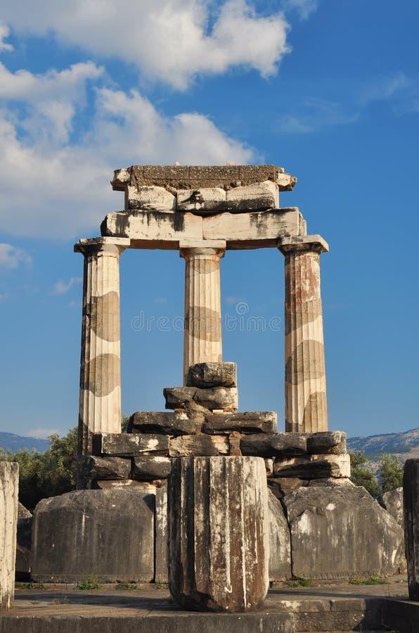 Il Tholos al santuario di Athena Pronaia fotografia stock libera da diritti