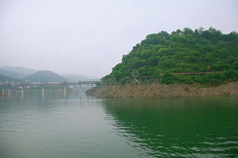 Il Three Gorges del fiume Chang Jiang fotografie stock