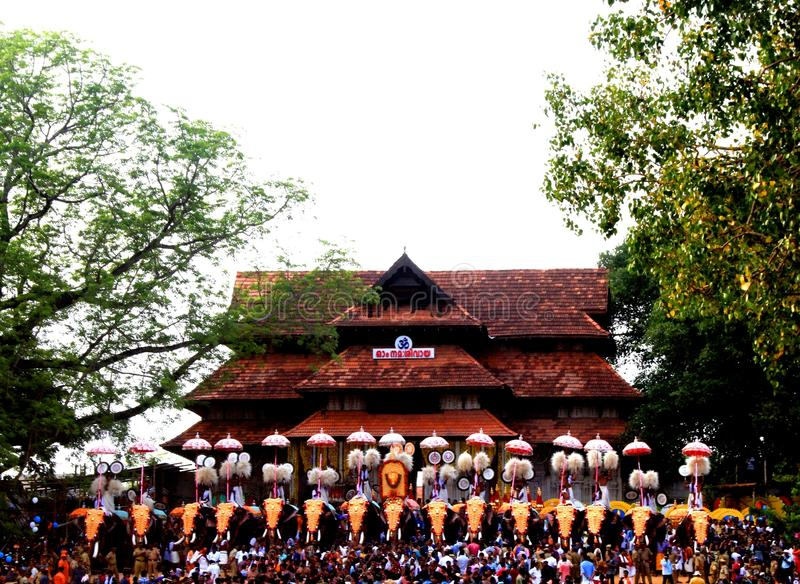 Il Thrissur Pooram immagine stock libera da diritti