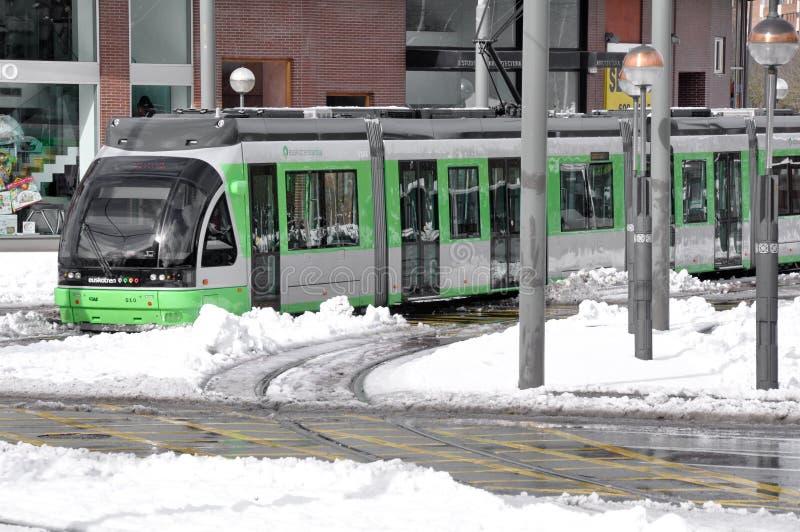 Il tram moderno di Vitoria fotografia stock libera da diritti