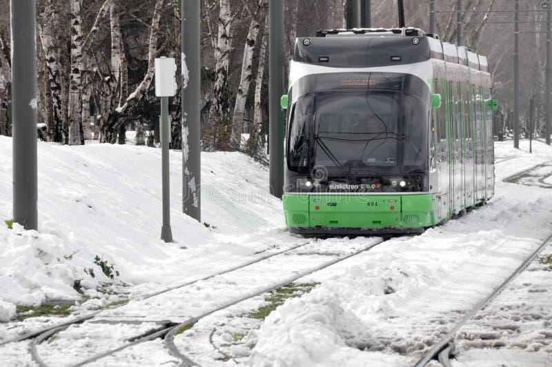Il tram moderno di Vitoria immagini stock