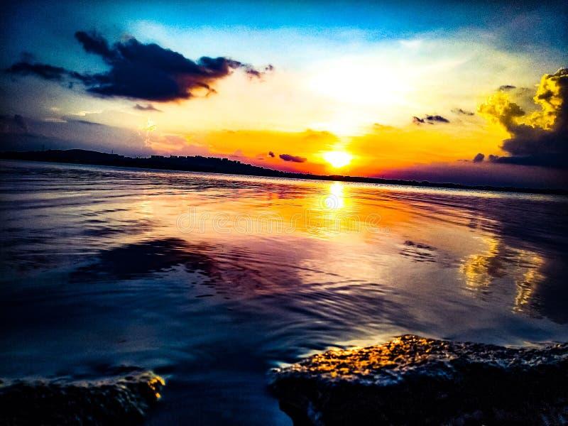 Il tramonto è stimolante in India fotografie stock libere da diritti