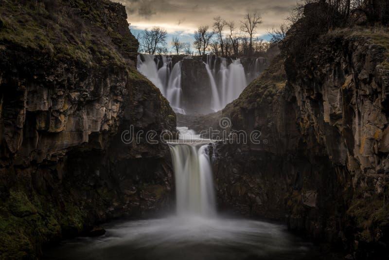 Il tramonto al fiume White cade l'Oregon immagini stock libere da diritti