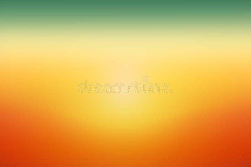 Il tramonto arancio verde semplice blured il fondo di pendenza per progettazione dell'estate fotografia stock