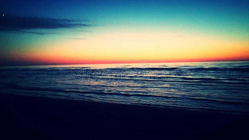 Il tramonto del mare fotografia stock