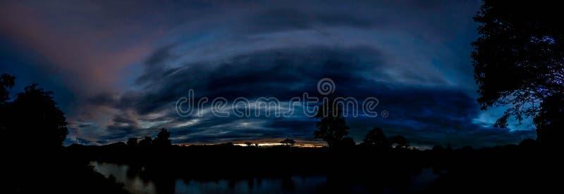 Il tramonto del punto di vista di Mae Hong Son immagine stock