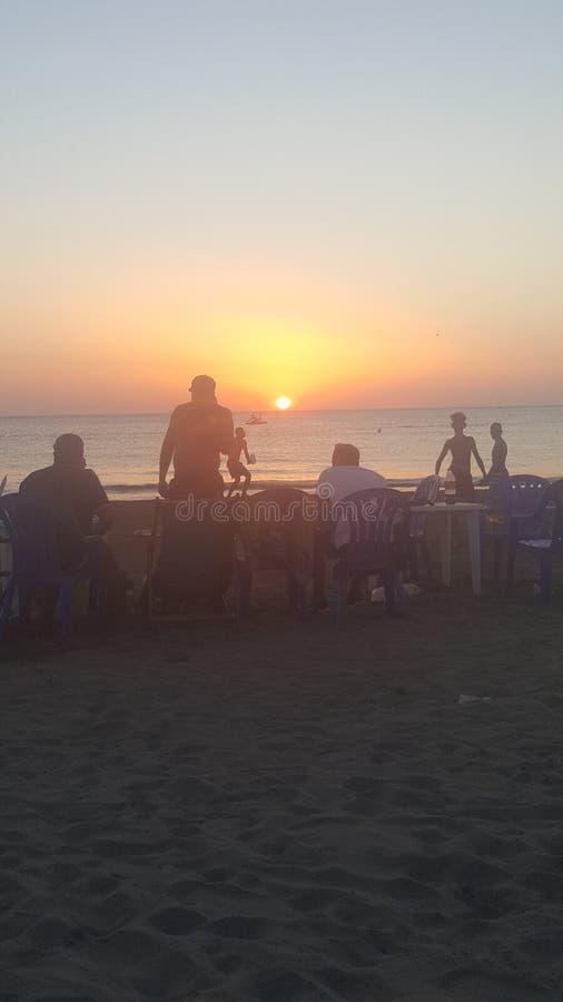 Il tramonto perfetto della spiaggia immagine stock