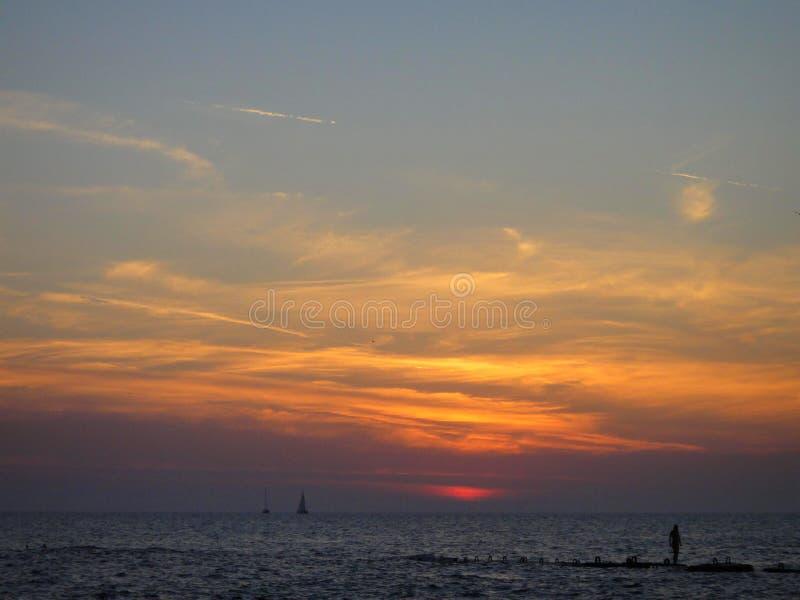 Il tramonto su Mar Nero immagini stock
