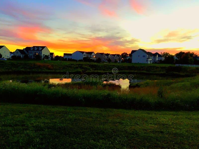 Il tramonto vibrante immagine stock
