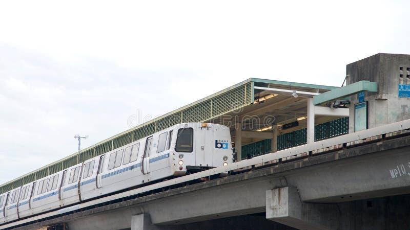 Il transito rapido di area della baia, BART, abbaia stazione giusta immagine stock