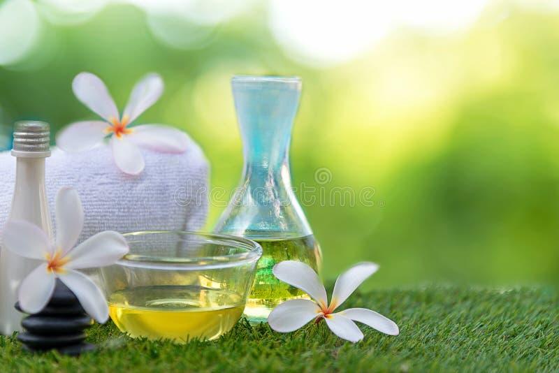 Il trattamento ed il massaggio del fiore della stazione termale di plumeria del frangipane, si rilassano e cura sana fotografia stock libera da diritti