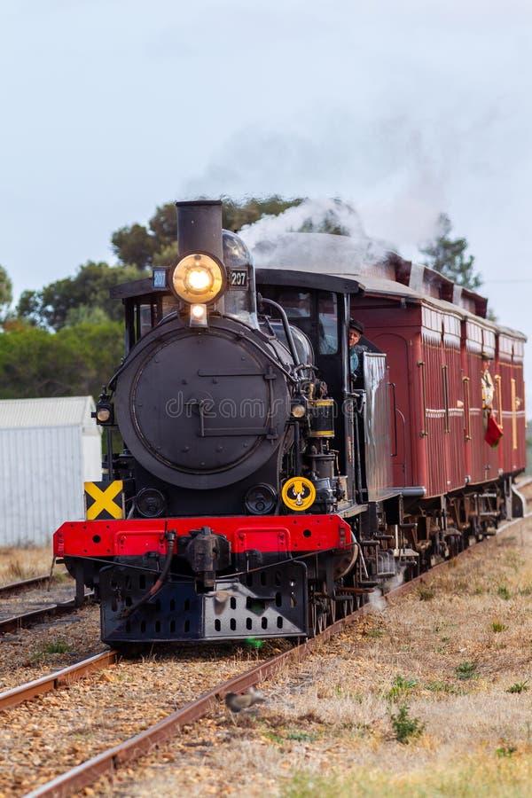 Il treno iconico del cuore edule del vapore 207 in Middleton South Australia il 24 aprile 2018 fotografia stock libera da diritti