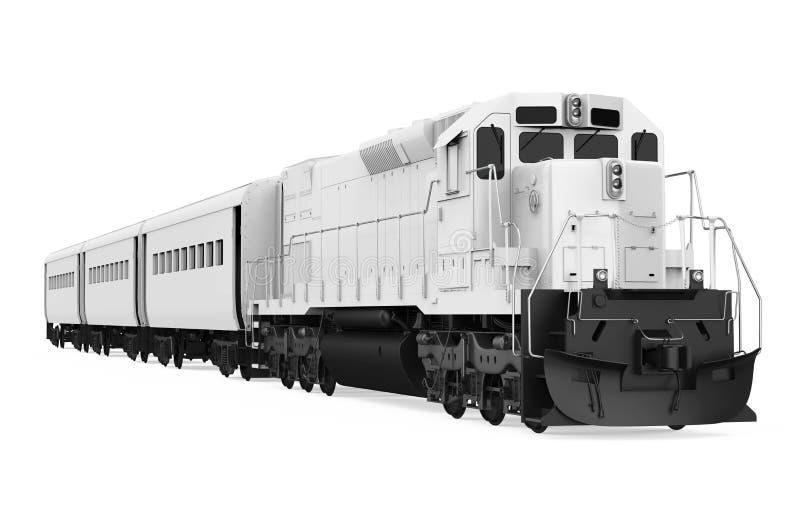 Il treno locomotivo diesel ha isolato illustrazione di stock