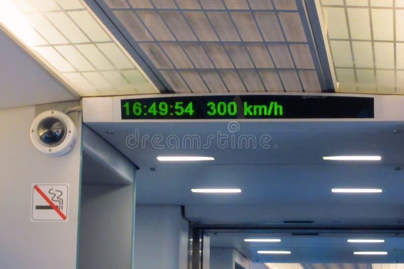 Il treno più veloce Maglev di levitazione magnetica del treno passeggeri del vagone immagini stock libere da diritti