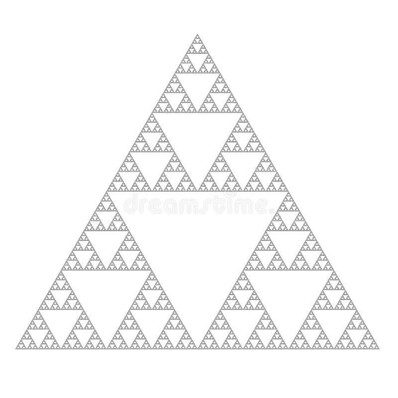 Il triangolo di sierpinski illustrazione vettoriale