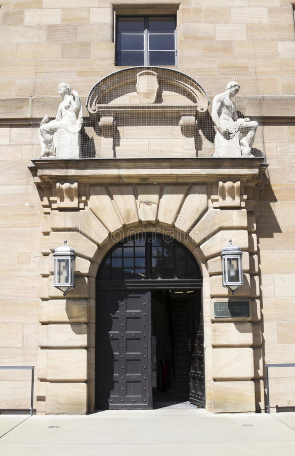 Il tribunale a Norimberga fotografie stock