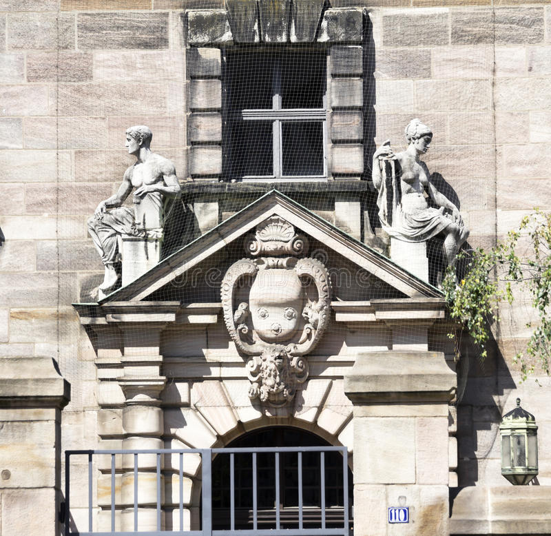 Il tribunale a Norimberga fotografie stock libere da diritti