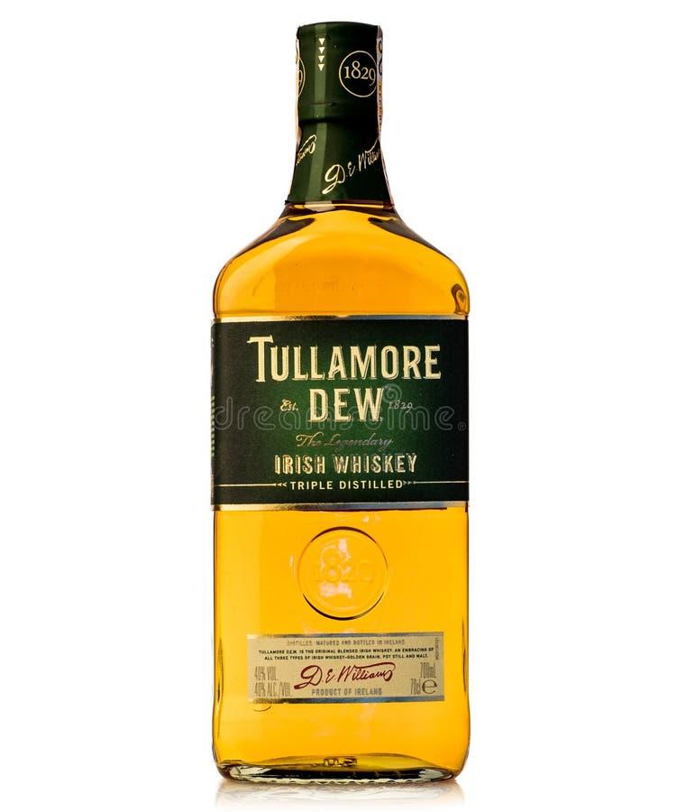Il triplo di Legednary ha distillato la rugiada irlandese del tullamore del whiskey fotografia stock libera da diritti