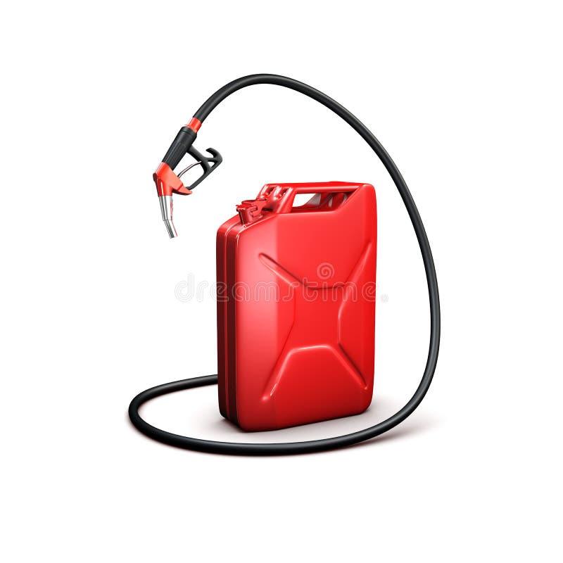 Il tubo flessibile ed il gas di rifornimento di carburante possono fotografie stock libere da diritti