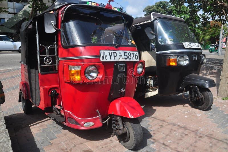 Il Tuktuk in Colombo Sri Lanka fotografia stock