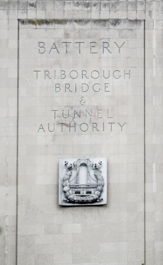 Il tunnel della batteria di Brooklyn conosciuto ufficialmente come il Hugh L Carey Tunnel fotografia stock