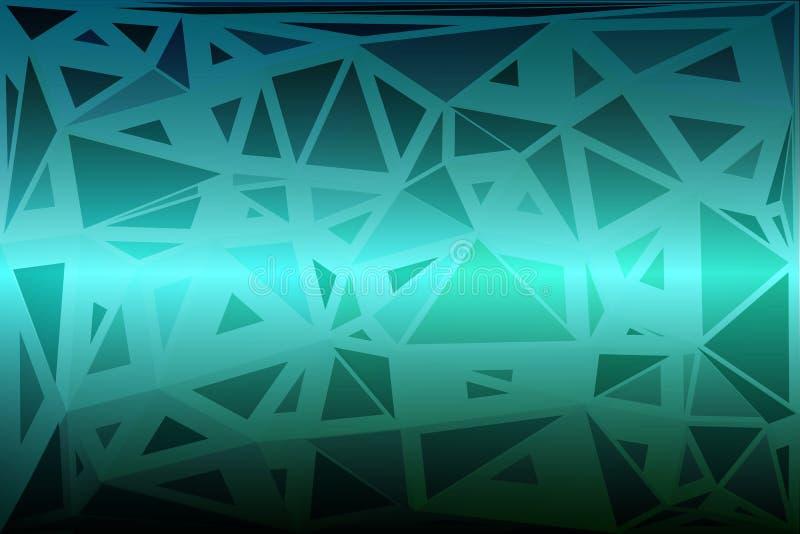 Il turchese protegge fondo basso di dimensioni casuali il poli illustrazione vettoriale