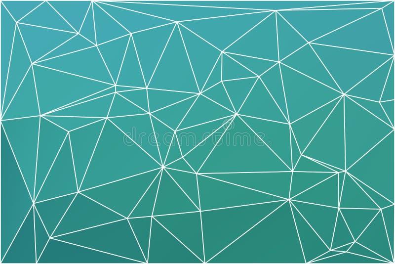 Il turchese protegge il fondo geometrico con la maglia illustrazione vettoriale