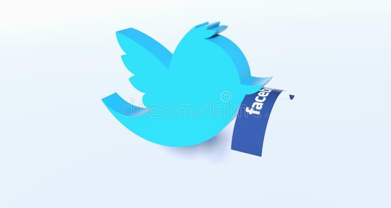 Il Twitter blocca Facebook