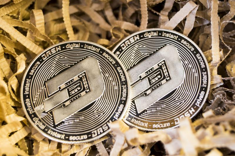 Il un poco è un modo moderno dello scambio e di questa valuta cripto immagine stock