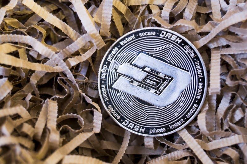 Il un poco è un modo moderno dello scambio e di questa valuta cripto immagini stock libere da diritti